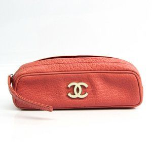 Chanel Leather Pen Case (Pink) Coco mark accessory